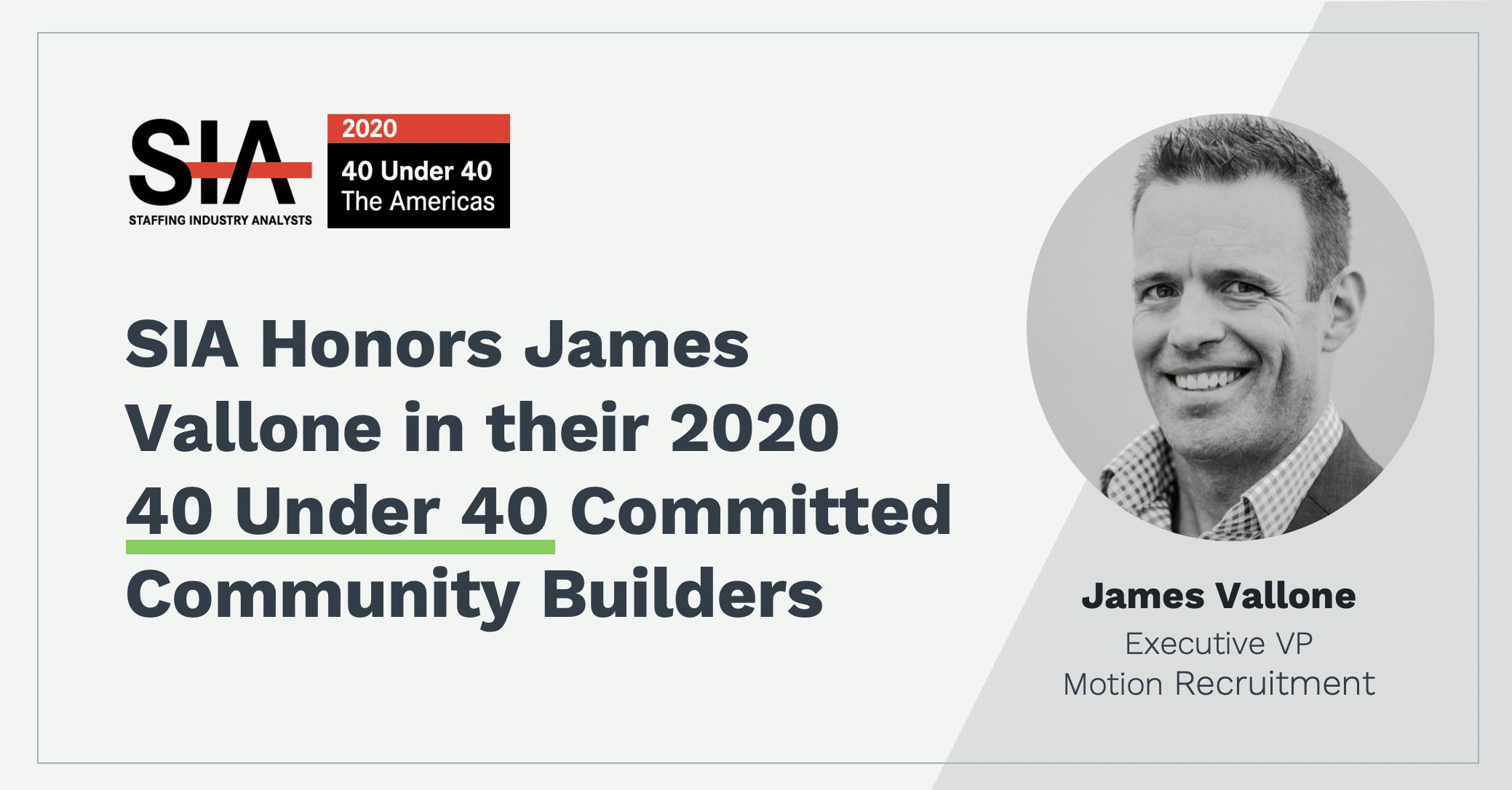 Congratulations James Vallone: SIA 40 Under 40